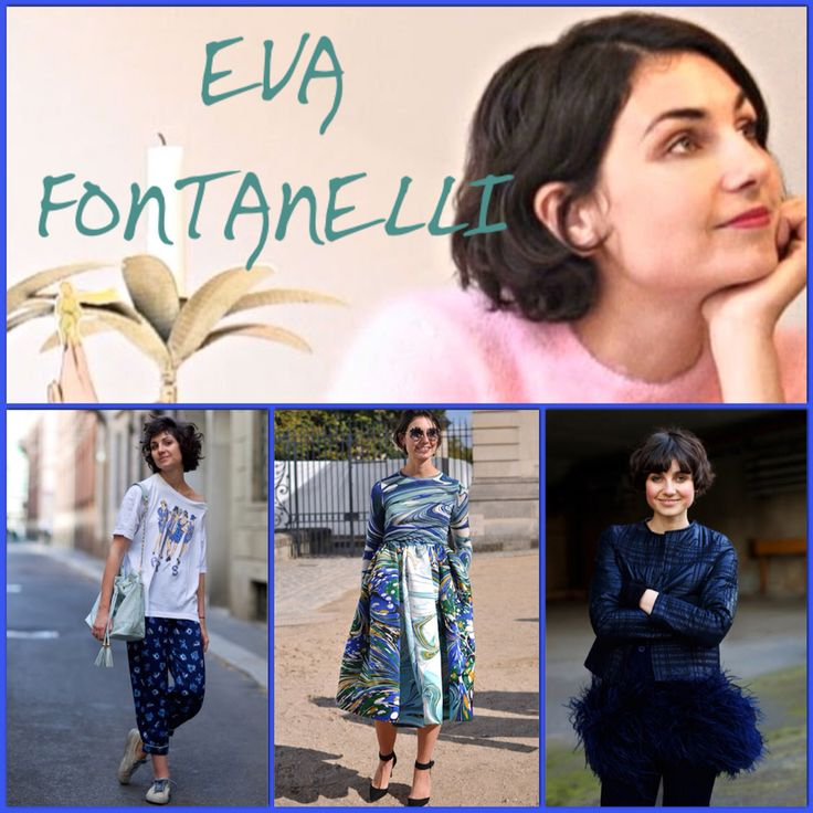 Eva Geraldine Fontanelli is a stylist, consultant and the fashion editor for Elle Italia. She is also known for her quirky street style.