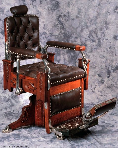 Antique Barber's Chair. I had one—extremely heavy! The oil leakage from the - 25+ Best Barber Chair Ideas On Pinterest Barber Shop Chairs