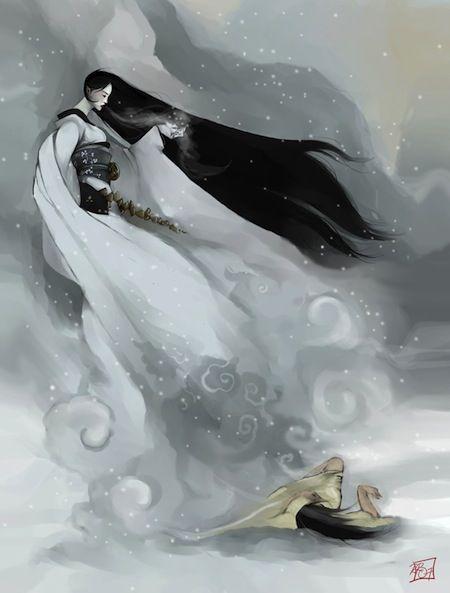 Yuki-onna, gli spettri delle donne delle nevi  #nihon #japan #giappone