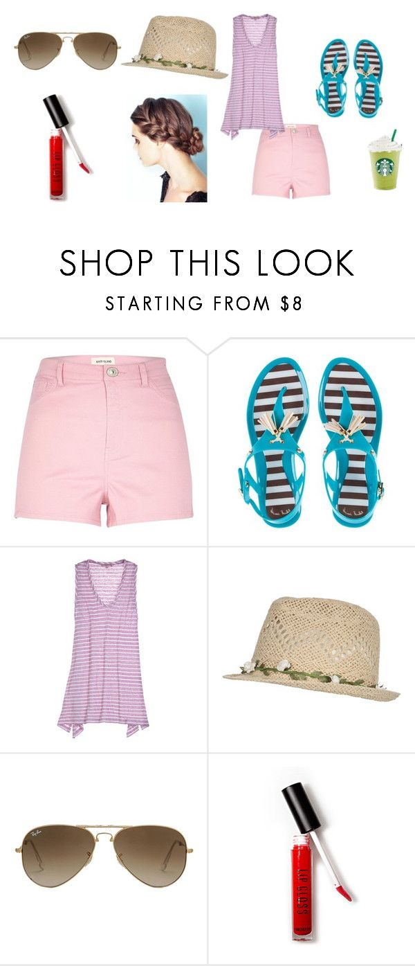 """This summer weather!"" by xoutfiter ❤ liked on Polyvore featuring River Island, Henri Bendel, Calypso St. Barth, Jane Norman, Ray-Ban and Forever 21"