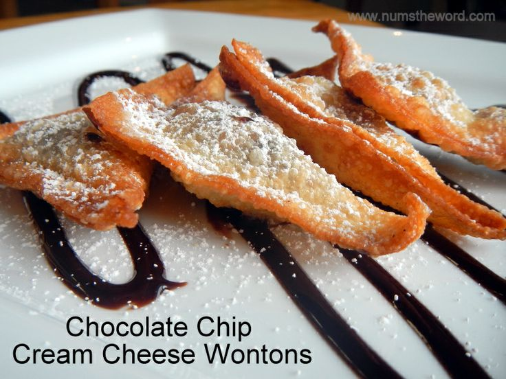 ... Crunchy fried wontons with a sweet center dipped in chocolate suace