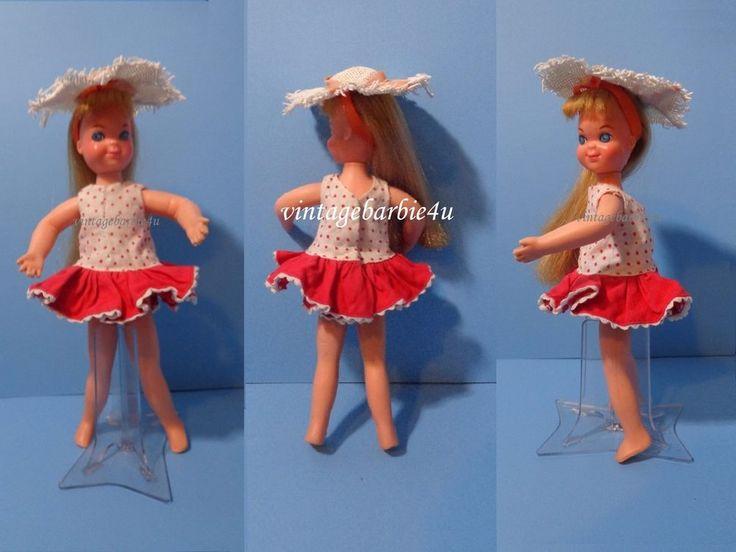 "Vintage Barbie Tutti Doll Clothes Lot ""Walkin My Dolly"" Dress & Straw Hat Japan #Mattel #ClothingAccessories"