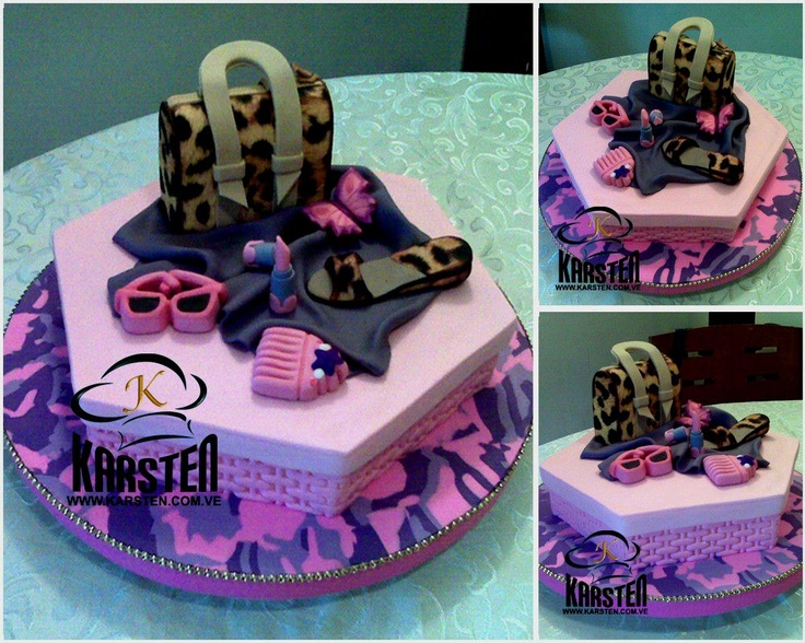 Torta Fashion Animal Print | Tortas fashion | Pinterest