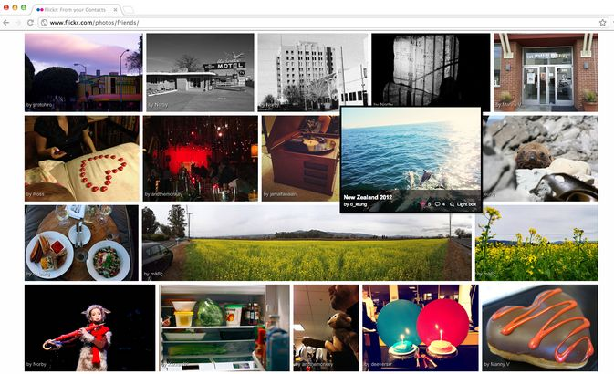 Flickr is going to provide a Pinterest-Like interface.