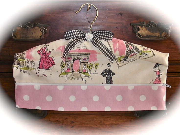 Padded Hanger in Paris Tres Chic Fabric