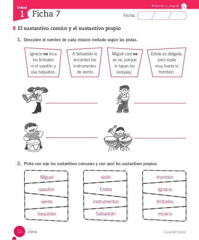 ejercicios sustantivos propios y comunes primaria - Buscar con Google
