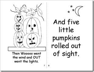 Five Little Pumpkins Book Printable!