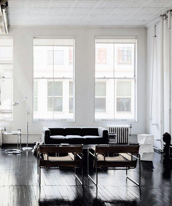 A lovely black/white NYC loft