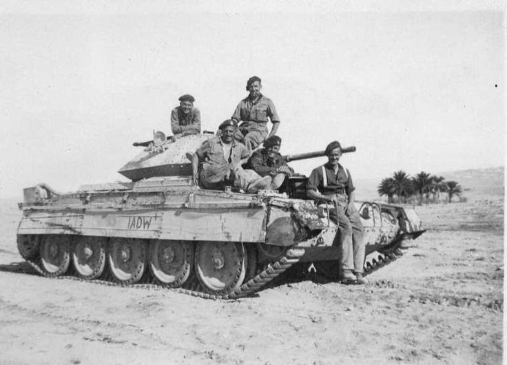 Crusader tank and its crew, North Africa,