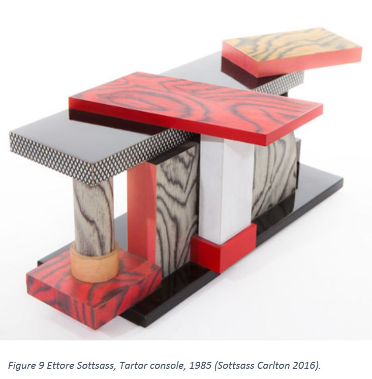 Figure 9 Ettore Sottsass, Tartar console, 1985 (Sottsass Carlton 2016).