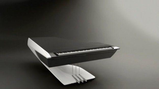 Piano a coda - Il piano con piede unico di Peugeot Design Lab e Pleyel