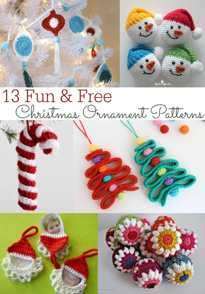 13 Adorable & Free Christmas Ornament Crochet Patterns | Crochet ...
