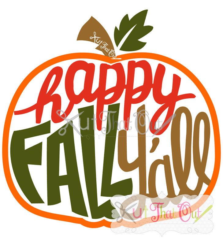 EXCLUSIVE Happy Fall Y'll Pumpkin SVG and DXF File by KutThatOut on Etsy https://www.etsy.com/listing/467487614/exclusive-happy-fall-yll-pumpkin-svg-and