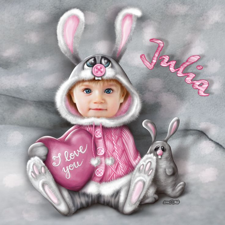 Little hare - personalised print, picture and poster for children - www.smooki.pl