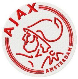 AFC Ajax logo machine embroidery design. Machine embroidery design. www.embroideres.com