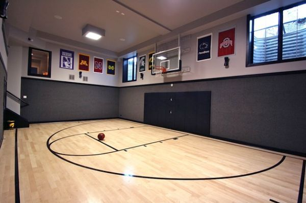 70 home gym design ideas home home gyms and indoor for House plans with indoor basketball court