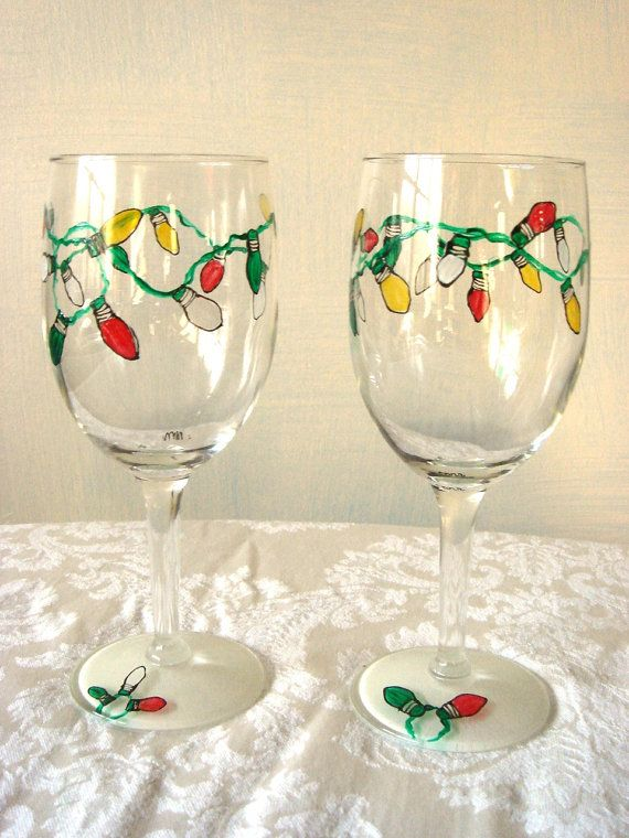 1000 images about glass crafts on pinterest for Holiday wine glass crafts