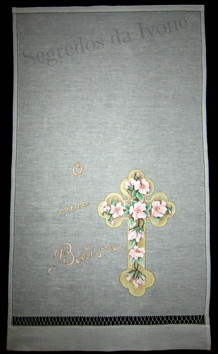 AB10- Pintura em toalha de batismo