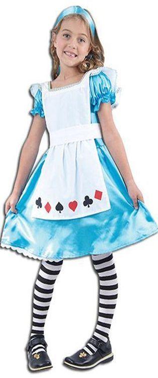 Alice in Wonderland Costume. World Book Day kids fancy dress costume www.partypacks.co.uk