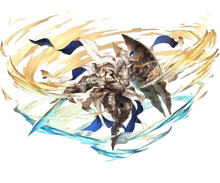 1boy armor armored_boots baotorda blonde_hair blue_eyes boots doraf gloves granblue_fantasy helmet horns minaba_hideo official_art shield solo sword transparent_background weapon