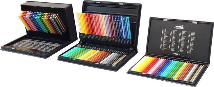 Mitsubishi Pencil Uni Color Colored Pencil Set 36, 72, 100 in Crafts,Art Supplies,Drawing | eBay