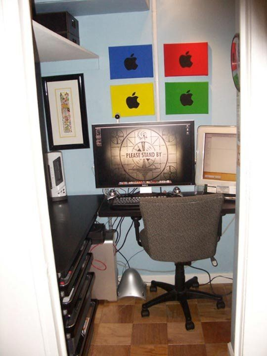 Justin's Office in a Closet