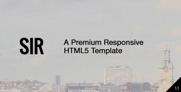 Sir - Responsive HTML5 Portfolio Template   http://themeforest.net/item/sir-responsive-html5-portfolio-template/7645308?ref=damiamio       Sir, a clean and responsive HTML5 portfolio template, made with passion for all sorts of creatives and freelancers. It's easily extendable and offers a home-made easy-to-use responsive lightbox.         CSS3 Animations  Bootstrap 3.1.1  Grid System  HTML5  Unique navigation  Responsive Design  More than 500 Icons  Google Fonts Support  Working PHP…