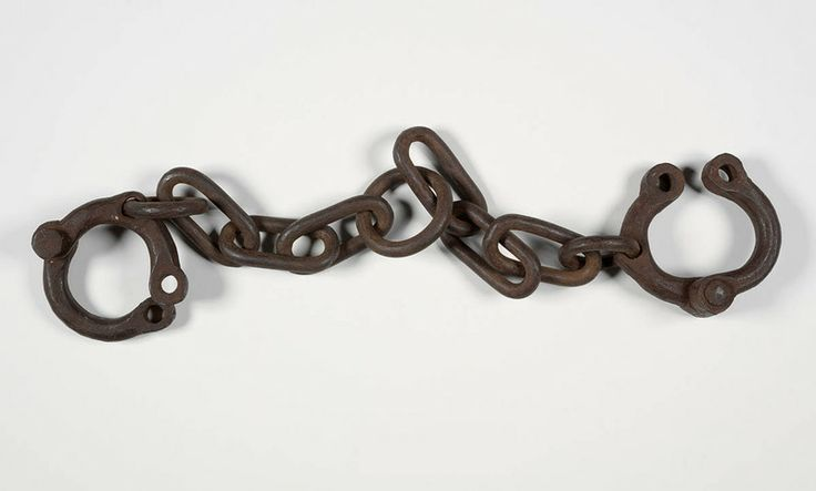 Convict leg irons, said to have come from Tasmania. From the collections of the Dixson Library, State Library of New South Wales: http://acmssearch.sl.nsw.gov.au/search/itemDetailPaged.cgi?itemID=442956