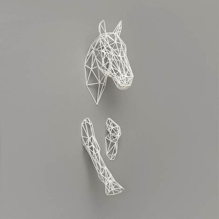 Make way! 3D print ghost horse coming in!     Discover uncommon designs straight from your inbox - Check the link in bio!     #product by @designsbydora