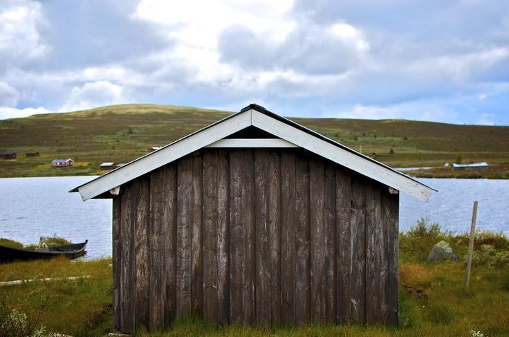 Boathouse on Lake Avstjønna, Gudrandsdalen, Norway