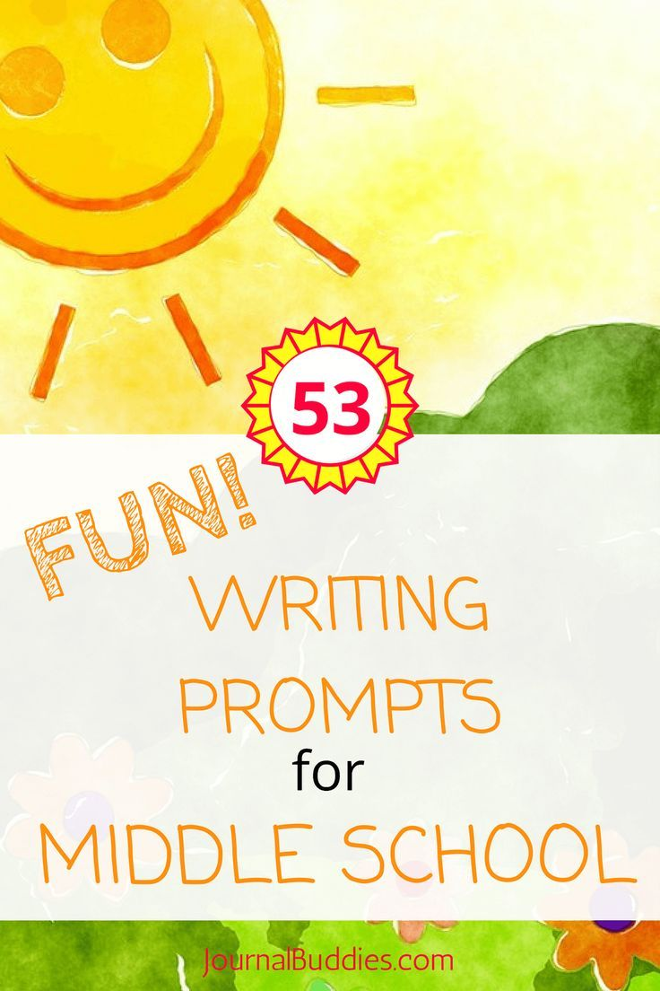 "fun creative writing prompts for middle school 24 novels are fun to read because the action keeps you interested, and the characters almost become your friends  30 on your way to school one morning you see a huge truck speeding down the road  62 thoughts on "" 60 narrative writing prompts for kids "" comment navigation ← older comments."