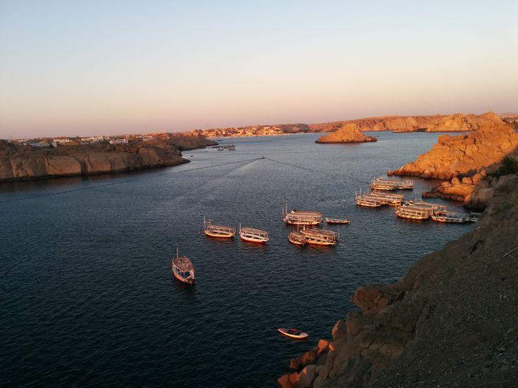 Nile Sunset in Aswan!