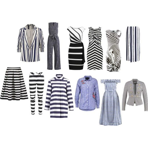 love stripes for winter type of beauty by colour-code on Polyvore featuring moda, G-Star and Kiomi