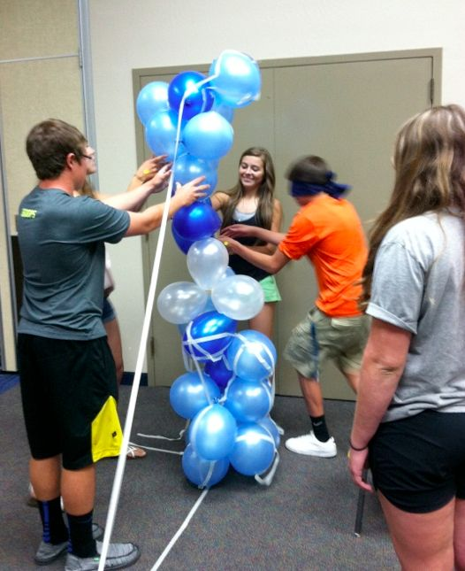 An activity that consists of building the tallest structure with balloons and tape! {Lowry High School, Winnemucca}
