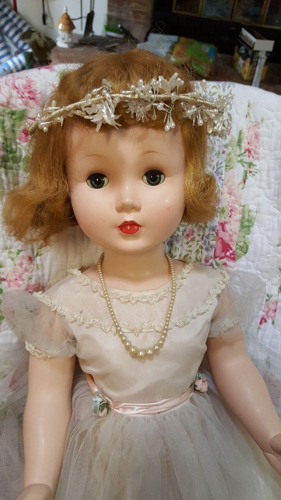 "1950's Madame Alexander Doll - Mary Ellen Walker Hard Plastic 31"" Tall #MadameAlexander #Dolls"