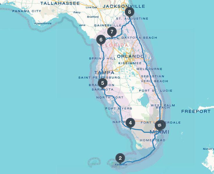 Florida Reisebericht Route für Rundreise