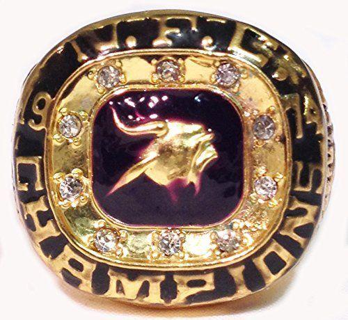Minnesota Vikings 1974 NFC Championship Ring Replica - Chuck Foreman - Rare Vikings Football Memorabilia - Mens Ring Size 11 **He was one of my favorite Vikings!