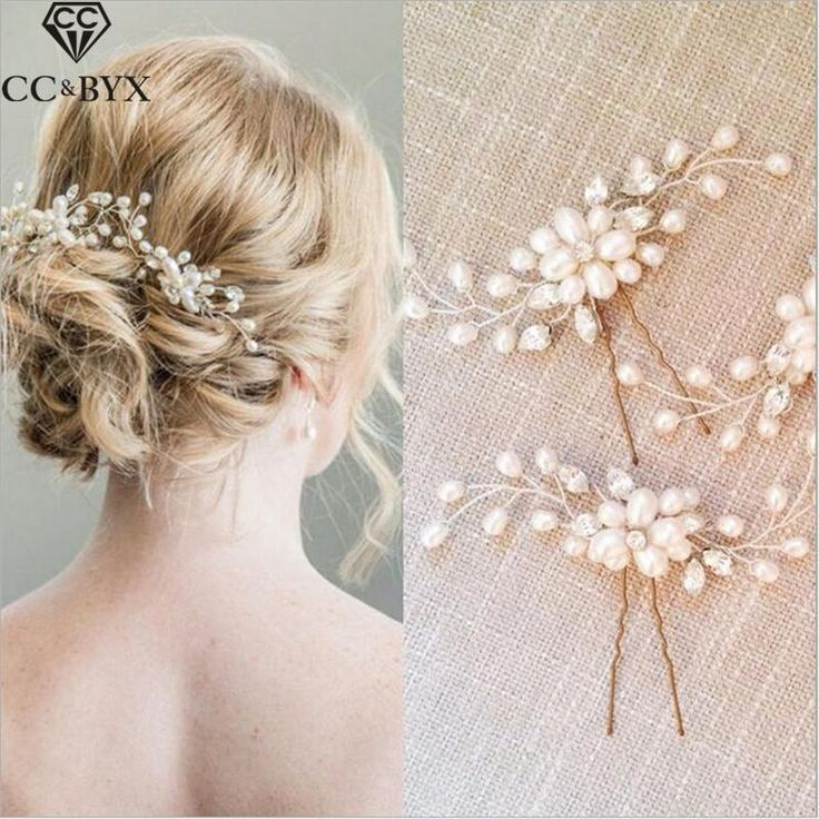 CC Hair Sticks Hairpins Crystal Pearl Wedding Hair Accessories For Women Beach Party Bride Hair Accessories Bijoux Jewelry TS055