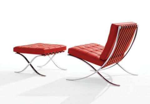 Ludwig Mies Van Der Rohe Style Barcelona Chair Interior Addict