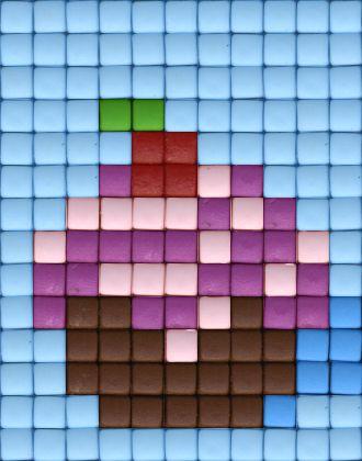 #cupcake # cake #cute #pixels #pixelhobby #beads