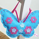 'Make & Sew' Felt Butterfly Kit In Turquoise
