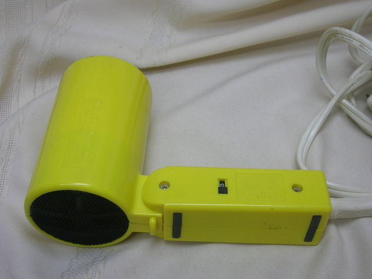 Conair Vagbond 1250 Hair Dryer Folding 125/250VAC Switch Yellow Working #Conair