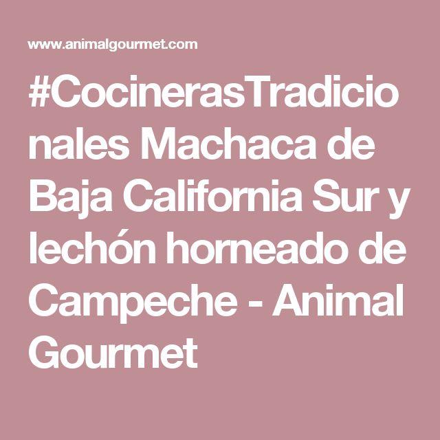 #CocinerasTradicionales Machaca de Baja California Sur y lechón horneado de Campeche - Animal Gourmet