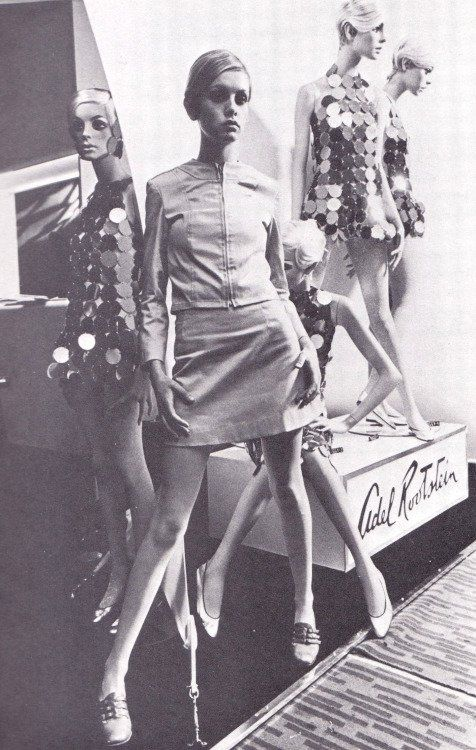 """ADEL ROOTSTEIN,New York, """"Twiggy became a prominent British teenage model of the swinging sixties London"""", (1960's), pinned by Ton van der Veer"""