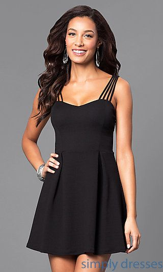 Fit and Flare Knit Short Casual Dress