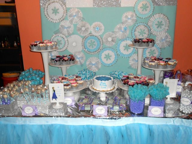 Custom Frozen Themed Dessert Table Included Delicious