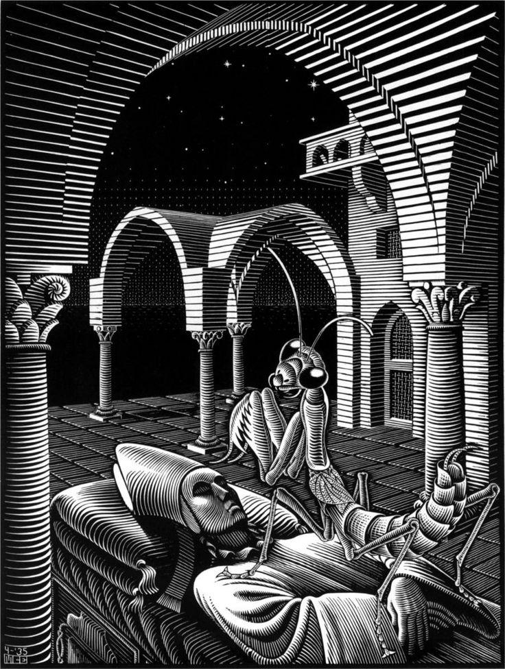 """""""Dream"""" by M.C. Escher"""