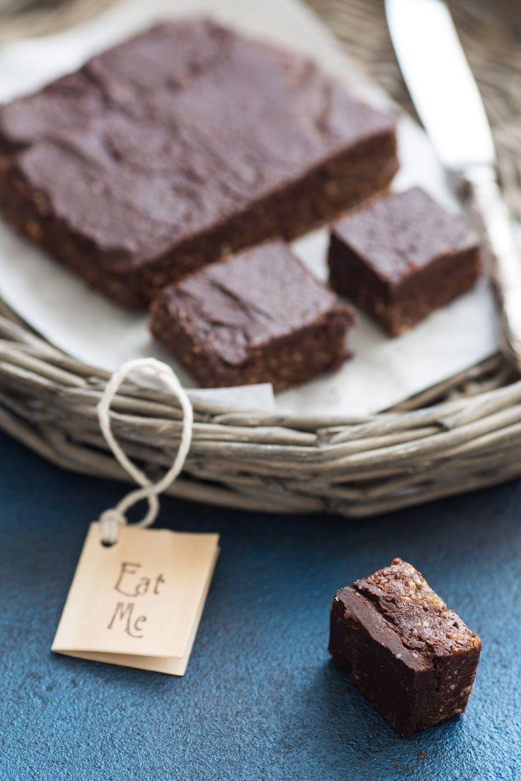 I Quit Sugar: Dark Chocolate, Plum + Tahini Fudge