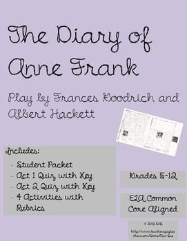 best anne frank images anne frank teaching  diary of anne frank the play bundle includes packet quiz activities test