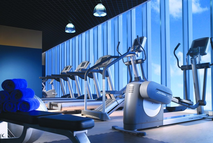 The Fitness Center on the 2nd Floor of Oakwood Premier Cozmo Jakarta
